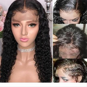 Hair 13*4 Brazilian Curly Lace Front Human Hair Wigs Pre Plucked 150% Density Front Lace Wigs
