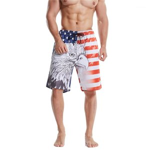 Printed Mens Beach Shorts Loose Quick Drying Homme Board Shorts Plus Size Drawstring Male Short Pants 3D