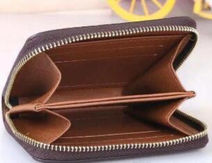 موضة جديدة مصمم مخلب الشهيرة من الرجال والنساء العلامة التجارية مخلب حقيقية محفظة جلد مع حقيبة مربع الغبار 60067 قصيرة عملة جيب المحفظة حقيبة 11x8cm