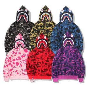 BAPE Mens Stylist Hoodies 19ss Uomini Donne Stylist giacca con cappuccio Camouflage Stampa Bape Mens Felpe alta qualità 6 colori