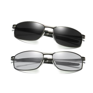 Luxury-Polarized Sunglasses Photochromic Men New Fashion Sun Glasses with Accessories Male Driving Traveling Alloy Frame Shades 395