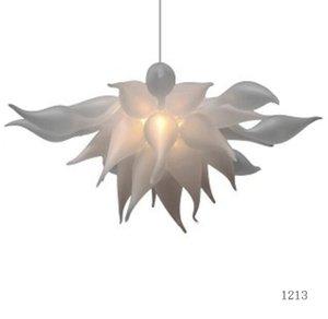 Clásico blanco esmerilado iluminación de la lámpara romántica Jardín Lámparas llevada moderna lámpara del dormitorio Sala Murano