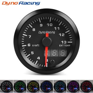 Dynoracing 2'' 52mm Dual Display Exhaust Gas Temp Gauge 7 colors Led 300-1300 Celsius EGT EXT Gauge with Stepper Motor