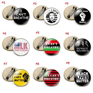 I CAN'T BREATHE Anti-racial protesters badge nine styles of clothing insignia demonstration badge BLACK LIVES MATTER T3I5816