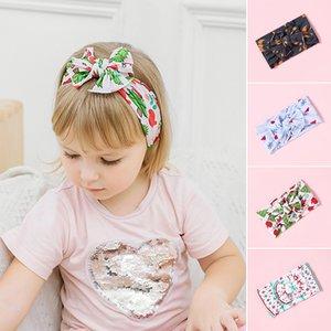 Cute Summer nuova neonata fasce archi stampa Neonata appena nata Accessori per capelli capelli della fascia morbida Haarband elastica