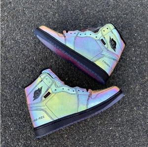 1 zoom R2T Sin Miedo zapatos de baloncesto Los zapatos del diseñador reflectante Negro y verde trébol rojo del equipo universitario R2T camaleón 3M Chaussures zapatillas de deporte