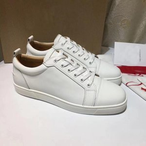High Quality Brand Red Bottom Junior Orlato Sneakers Shoes For Men Women Low Cut Sneakers Outdoor Black White Red Trainers Party Wedding