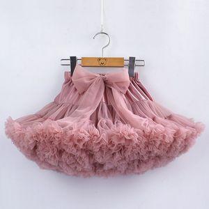 15 цветов девушки пачка нижняя юбка с бантом оборками пухлые юбка Принцесса мягкий тюль дети партия танец нижняя юбка 1-10 лет ребенок