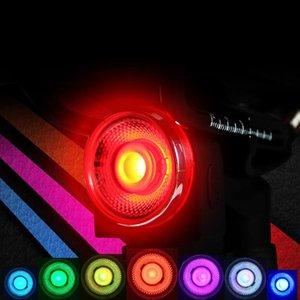 Se enciende cola de la bicicleta a prueba de agua de colores bici del camino de la luz posterior de ciclo de la bicicleta de la lámpara de luz trasera de la linterna Set