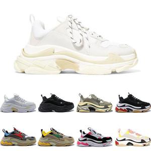 Balenciaga 2019 Designer Shoes Fashion Paris 17FW Triple S Sneaker Casual per Donna Uomo Nero rosa bianco Sneakers sportive Taglia 36-45 Aumenta la moda