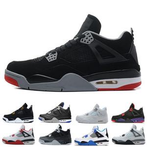Nike air jordon 4 zapatillas de baloncesto zapatillas hombres hombres Cool Gray thunder Cemento blanco Pure Money Bred Royalty Game Royal 4s Zapatos para exteriores US 7-13