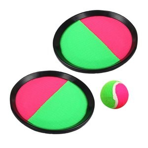 Toss & Catch Ball Game with Disc Palm Paddles, Pink and Green