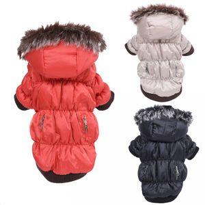Dog Supplies Dog Coats Jackets roupa morna do inverno removível capa Parkas Pet Dogs Coats Vestuário Jacket para cães