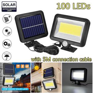 100LED Güneş Enerjisi Sokak Spotlight PIR Hareket Sensörü Açık Bahçe Işık Güvenlik Gece Duvar Bölünmüş Güneş Işık Sel Lambası