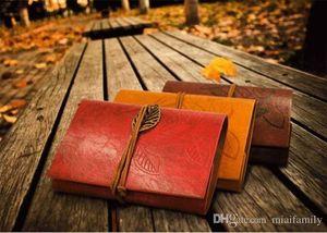 도매 - 빈티지 다크 브라운 PU 가죽 커버 느슨한 잎 빈 노트북 저널 다이어리 선물