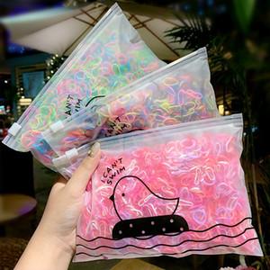 1000 pcs / pack Meninas colorido pequeno descartável Rubber Bands Gum Para rabo de cavalo titular Bandas elástico de cabelo Acessórios de cabelo Moda