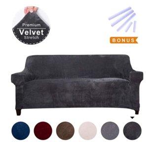 Premium Sofa Cover velluto, divano Slipcovers per 3 cuscino del divano Alto-Stretch Couch copertina di velluto, Couch Slipcovers per Mobili Sofa Cover