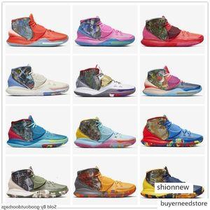 Pre-Heat NYC Miami Houston Herren-Basketball-Schuhe Kyrie 6 Tokyo Heal The World Designer-Turnschuhe CN9839-100-404-401