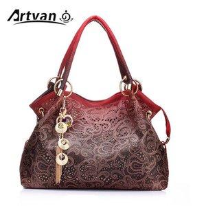 Marke Luxus-Designer-Frauen Handtaschen weibliche PU-Leder höhlen heraus Troddel-Stadtstreicherin messegner Umhängetasche bolsa feminina LH33 T200430