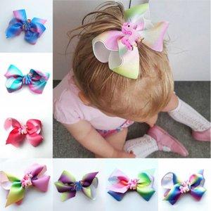 Moda Infante recém-nascido Crianças Baby Girl Headwear Unicorn Knot Headband floral Bow hairband Bebés Meninas cabeça banda Hairwear Hairpin