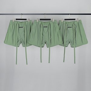 top quality new FEAR OF GOD 6TH FOG 3M reflective drawstring shorts pants Casual Breathable Street Skateboard shorts pants light green