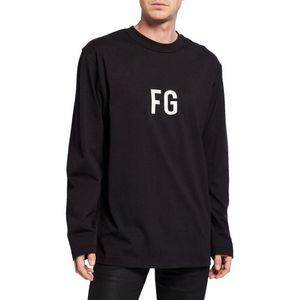 19SS FURCHT GOTTES NEBEL 6. LANGARM 'FG'TEE FG Jerry Sweatshirt Pullover Pullover Street Simple Fashion Solide Hoodies T-Shirt HFYMWY246