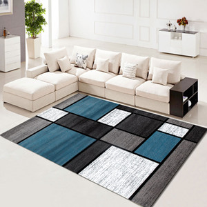 Carpet Modern Simple Style Color Block Washable Rug