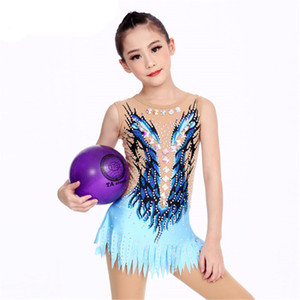 LIUHUO Women rhythmic gymnastics leotards girls performance suit Artistic gymnastics dress Stretch fabrics Ice Skating Dress Tights Dance
