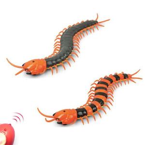 Remote Control Centipede Creepy-crawly milípede Remote Control / RC animal Prank engraçado Brinquedos Plástico Simulação ABS presente de aniversário para crianças