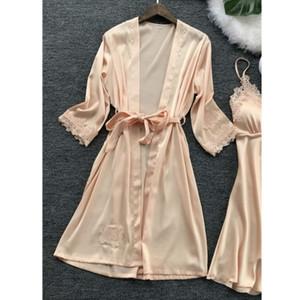 Sexy Wäsche-Frauen-Spitze-Robe-Kleid Babydoll Nachthemd Nachtwäsche Kimono