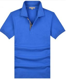 Men Casual T-Shirts GB Cotton Short Sleeve UK Brit Polo Shirt Sports Jerseys London Camisa Solid Polos Homme Size S-2XL Blue