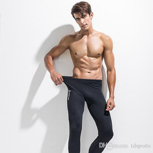 new Mens Running Fitness Gym Sports Long Pants Men Sport Trousers Side Pockets Elastic Workout Leggings Tights Quick Dry Compression Sports