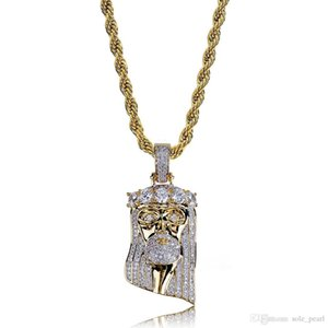mens necklace hip hop jewelry Zircon iced out chains Vintage High grade cute Crown Pendant necklace stainless steel jewelry wholesale 2018