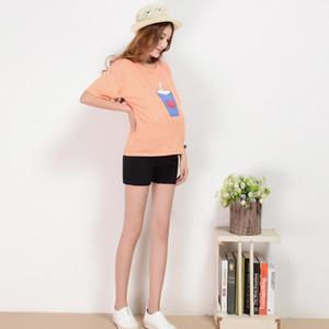 임산부 출산 짧은 바지 아기 어린이 의류 임신 캐주얼 높은 허리 바지 roupa gravida roupa gestante