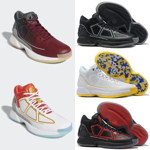 2019 Yeni Erkek D Gül 10 Basketbol Ayakkabı yüksek kalite Gül mans 10 s Spor Sneakers erkekler Tasarımcı Chaussures erkek siyah beyaz Eğitmenler