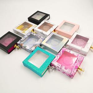 도매 크리스탈 핸들 NEW의 10mm-25mm 상자 래쉬 박스 가짜 포장 거짓 속눈썹 밍크 속눈썹 반짝이 케이스가 비어 3D