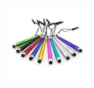 1000pcs Universal kapazitiver Bildschirm Baseball Touch Pen Stylus für Smart Handys Tablets Pens mit Staubstecker