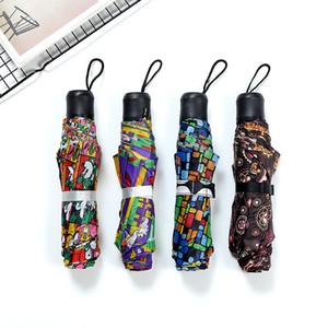 Color puro Paraguas Multi Estilos Aire libre Pesca de la sombrilla de tela de nylon artículos amantes triple plegable Paraguas cliente: 4 9RS L1