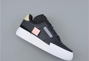 2020 High Quality 1 Type Man Athletic Designer Shoes Black Anthracite Zinnia Pink Tint White Low One Woman Fashion Trainers Come With Box