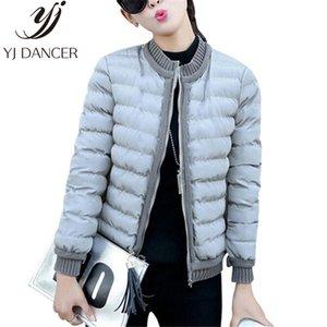 Autunno Inverno 2018 del rivestimento del cappotto nuovo modo di Down Cotton-Padded Ovatta giacca spessa baseball vestito short girocollo Coat YZH540