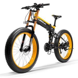 T750Plus Pedale 5 Livello Assist sensore elettrico Neve bici, aggiornato al Downhill Fork, motore potente, ad alte prestazioni agli ioni di litio