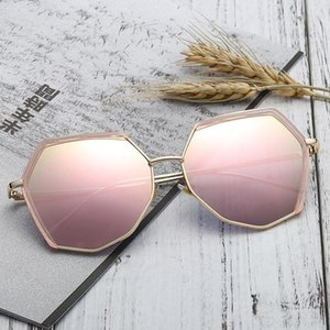 2019 Ins trendy womens sunglasses couple multilateral glasses designer high quality outdoor sport sunshade glasses Fashion Accessories