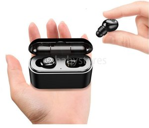 E Tws True Wireless X8s Earbuds 5d Stereo Bluetooth Earphones Mini Tws Waterproof Headfrees With Charging Box 2200mah Power Bank