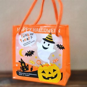 1piece 12x11x6cm orange Mini Happy Halloween Trick Or Treat Beuter Geschenk-Taschen Halloween Party Supplies Kinder Beuter