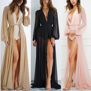 Femmes Sexy Tassel Long Cardigan Cover up robes Dame Dentelle Sexy Dentelle Kimono Blouse Casual Plage Bikini Creux Cover-up Robes Maillot De Bain