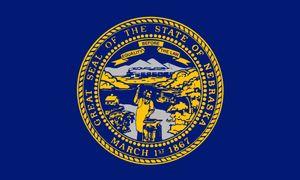 Drop Shipping American Nebraska Kopie State Flag 3x5FT USA Polyester Flagge Banner weiße Hülse und zwei Ösen