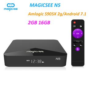 Magicsee N5 Android 9.0 TV BOX Amlogic S905X Quad-core 4K Resolution 2GB RAM 16GB ROM 2.4G 5G WiFi Set Top Box