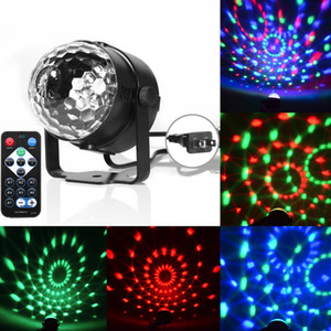 3W Mini RGB Magic Crystal son actif Disco Ball scène Lampe Lumiere Noël Projecteur laser US UE CresTech