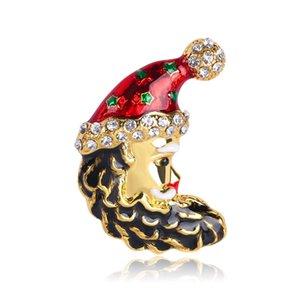 M'dame personnalité Cartoon huile Dripping Chapeaux de Noël Broche de vêtements
