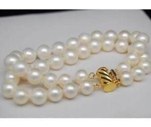 9-10mm weiße Südsee-Perlenarmbänder 7,5-8 Zoll Perlenarmband 14K Gold Verschluss